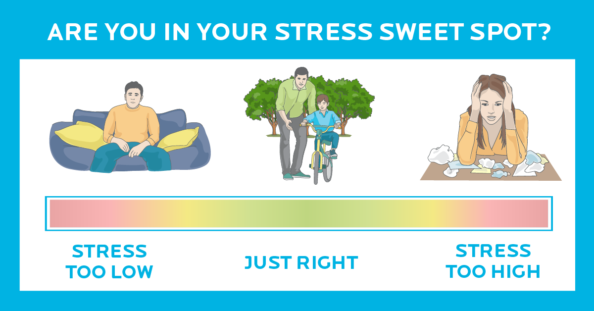 Image for Good stress, bad stress. [Infographic] Here's how to find your stress sweet spot.